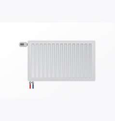Steel panel radiator on wall the thermostatic vector
