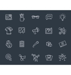 Thin line icons set Icons for business digital vector image