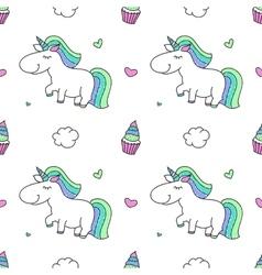 Unicorns and rainbows vector