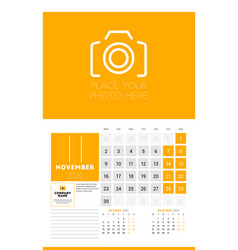 wall calendar planner template for 2020 year 3 vector image