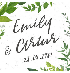 Wedding invite invitation save the date card vector