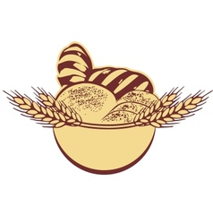 Wheat bread template vector image