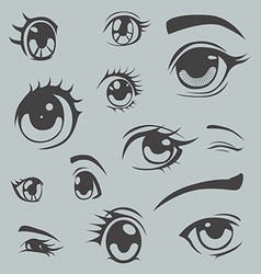 Anime style eyes vector image