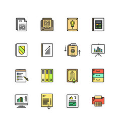 business documents finance simple icon vector image vector image