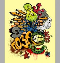 Graffiti elements vector