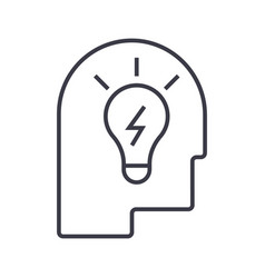idea in head linear icon sign symbol on vector image vector image