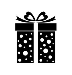 gift box icon present isolated on white vector image vector image