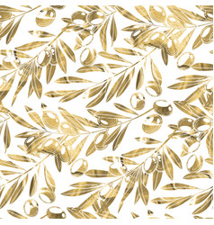 graphic olive pattern vector image vector image