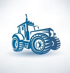 modern tractor symbol vector image