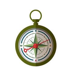 the compass pointing on east vector image vector image
