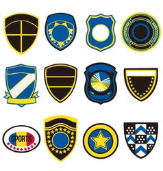 badge icon symbol set vector image