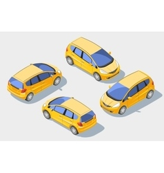 Isometric car 1 vector image vector image