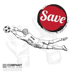 Poster design of soccer football vector image vector image