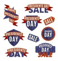 Presidents day set vector image
