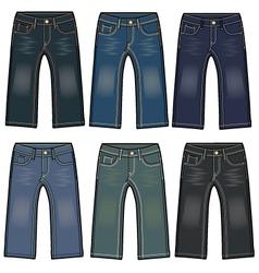 boys denim washing jeans vector image