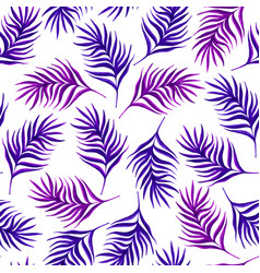 floral seamless pattern with purple leaves on vector image vector image