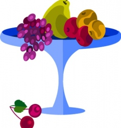 fruits on platter vector image vector image