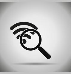 search wifi icon vector image