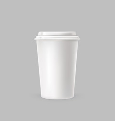 a white plastic cup for vector image