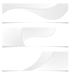 Abstract grey wavy banners vector