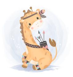 Adorable giraffe for children vector