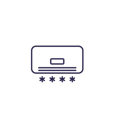 Air conditioner line icon on white vector