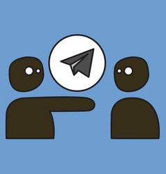 Aircraft button icon telegram icon vector