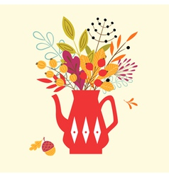 Autumn bouquet vector