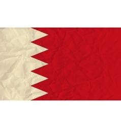 Bahrain paper flag vector