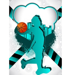 basketball summer background vector image