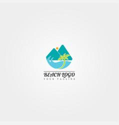 beach logo template creative design vector image