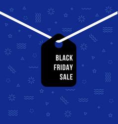 black friday sale hanging label vector image
