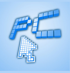 blue pc vector image