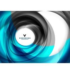 Blue swirl abstract modern design template vector