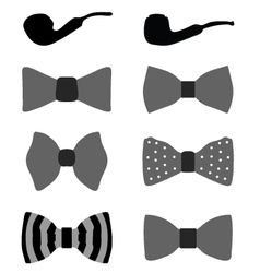 bow ties and pipes vector image