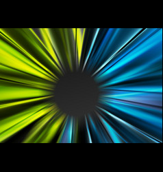 bright blue and green glowing beams background vector image