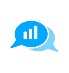 Bubble chat graph message volume icon vector