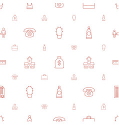 Button icons pattern seamless white background vector