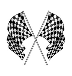 checkered flag on white background vector image