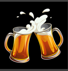 cheers beer glasses vector image