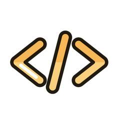 coding language development internet web vector image