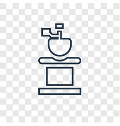 coffee grinder concept linear icon isolated on vector image