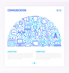 communication concept in half circle vector image