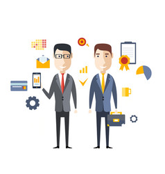 concept successful partnership vector image