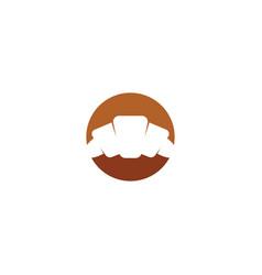 Croissant logo design sign element vector