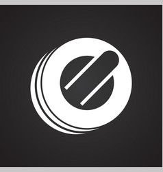 Curling icon on black background for graphic and vector