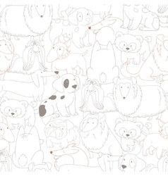 Cute dogs pets seamless pattern background vector