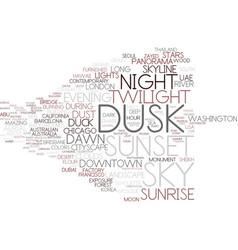 Dusk word cloud concept vector