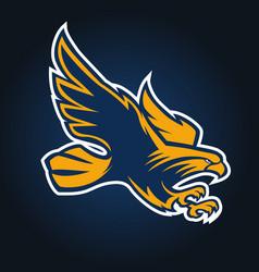 eagle mascot logo sport vector image