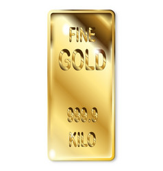 Fine gold ingot vector